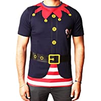 Mens ragazze bambino di Natale T-shirt di Natale della novità Renna dell'elfo della Santa Snowman (Novità Mens Pullover)