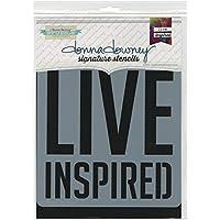Donna Downey plantillas de plástico Signature 21,59x 21,59, Live inspirado