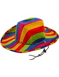 Henbrandt Unisex Cowboy-Hut in Regenbogenfarben, Filz