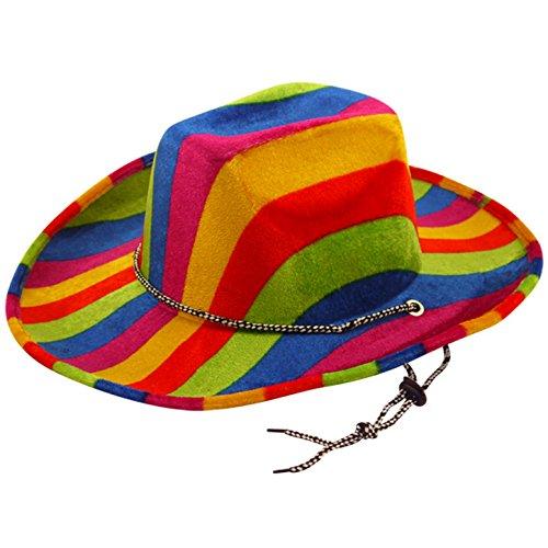 Henbrandt Unisex Cowboy-Hut in Regenbogenfarben, Filz (Einheitsgröße) (Cowboy Federn Und Hut)