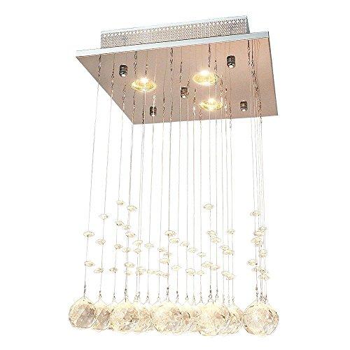 ... Glighone Kristall LED Deckenleuchte Kronleuchter Modern Pendelleuchte  Anhänger Kristallkronleuchter Kristallkugel Mit 3 Leuchten Für Küche, ...