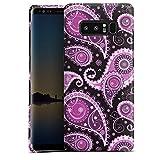 DeinDesign Samsung Galaxy Note 8 Hülle Premium Case Cover Ornamente Paisley Muster Lila