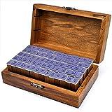 Beelfast 70-tlg. Holz Gummi Stempel Set Box Holz Stempelset Alphabet Buchstaben Stamp Letters