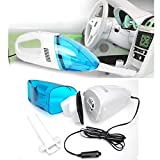 #2: Dealcrox Wet and Dry Vacuum Cleaner Blue Mini Car Vacuum Cleaner Portable Vacuum Dust Cleaner Collector for Car (12V)