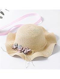 Fashion cap Sombrero de Paja de los Niños Flor Femenina Sombrero de la  Muchacha Linda Niña bb60e010d1f