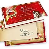 TATMOTIVE Weihnachtskarten Klappkarten Grußkarten Rührende Weihnachtsgeschichte 25-er Sets Weihnachten Vintage + Umschlag