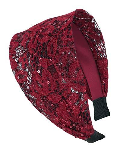 axy HR14A Haarreif Serie 14A Hair Band -Vintage - Wunderschön Stirnband (Rot)