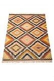 Orientalischer Indischer Handgeknüpfter Orient Kinderzimmer Teppich Kelim Dilshad mittel - 100% Baumwolle 120x180cm