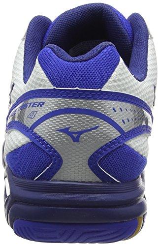 MizunoWave Twister 4 - Scarpe Sportive Indoor uomo Bianco (White/Dazzling Blue/Twilight Blue))