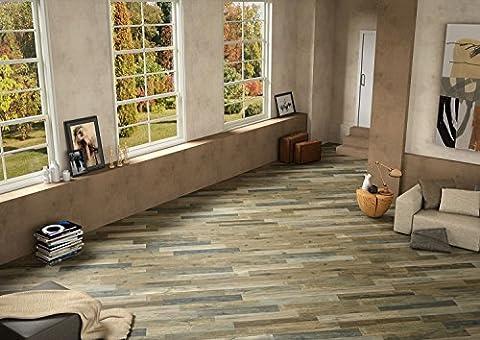 Rustic Wood Effect Porcelain Matt Wall Floor Tiles Bathroom Kitchen Utility Room - 14.5 cm x 87 cm