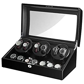 Sepano-Automatik-Uhrenbeweger-mit-zustzlichen-Speicherpltzenjapanischem-Mabuchi-Motorgroer-Kapazitt100-handgefertigtPU-Softwatch-Kissen