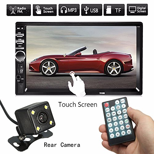 SOLMORE Autoradio Bluetooth Auto Toccare Schermo MP5 FM 7'' Radio AUX Ricevitore USB/SD con Telecomando con telecamera posteriore car MP5 Player