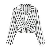 Chemisier Femme,Femmes Chic Sexy Blouse Rayures Verticales Col V Casual Mode Tunique Haut Top Shirt Manche Longue T-Shirt Pull Sweat Blouse Printemps Et Été Darringls