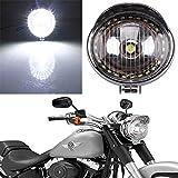LED-Scheinwerfer-Lampe Angel Eye für Motorra, Chrom für Harley Bobber Chopper Cruiser Cafe