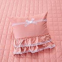 Principessa coreano trapuntato Tombolo/ tinta unita in cotone quadrato throw pillow-A 45x45cm(18x18inch)VersionB