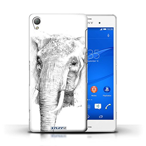 Kobalt® Imprimé Etui / Coque pour Sony Xperia Z3 / Aigle / Oiseau conception / Série Dessin Croquis éléphant