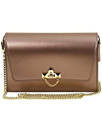 Tuscany Leather TL Bag Sac à main en cuir Ruga metallic et bandoulière à chaîne