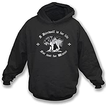 Game of Thrones A Direwolf Is For Life, Not Just For Winter Hoodie (Small)