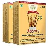 #7: Early Foods - Pack of 2 - Organic Whole Wheat Ajwain Jaggery Teething Sticks 150g X 2 (Vegan)