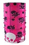 Head loop multi función de calavera diferentes coloures bufanda cuello de tela de la manguera de paño de tela, color rosa - rosa, tamaño Talla única