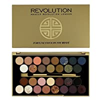 FORTUNE FAVOURS THE BRAVE by British Beauty Blogger by MAKEUP REVOLUTION. Palette of 30 eyeshadows. The composition consists of shadows matte (11), pearlescent (12), with particles (1) and baked (6). Variety of colors makes it possible to create m...