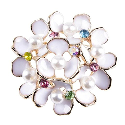 he Perle Diamant Blume Party Kleine Klage,Whitecolordiamond-L (Klage Für Halloween)
