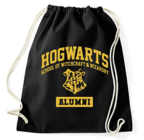 Hogwarts allumni School Of Witchcraft Logo Fan Sacca, nero