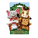 Melissa & Doug 19081 Zoo Friends Hand Puppets, Multicolor, Standalone