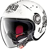 Nolan N21 Motogp Legends Visor Mini Jet Helm L (59) Weiß Matt