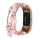 Fitbit Charge 2 armband, SHOBDW Neuankömmling Mode Sport Perlen Armband Armband für Fitbit Charge 2 (155- 170mm, Rosa)