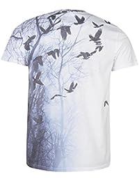 Nuoxiang Flores Camisetas para Hombre Verano Camisa de Manga Corta Cuello Redondo Retro T-Shirt