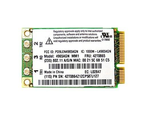3CTOP tarjeta inalámbrica para 4965AGN 802.11ac MINI PCI EXPRESS tarjeta adaptador de red–2,4/5.0ghz 300Mbps