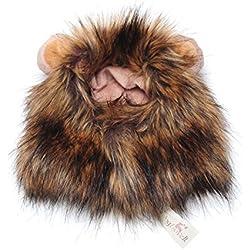 Ricisung - Gorro para mascota, diseño de león con orejas pequeñas, variegated
