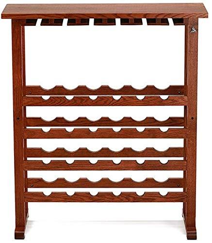 LCK Weinglasständer, vertikale quadratische Bar, Eiche Weinregal Display Stand Weinregal Startseite Massivholz Weinglashalter