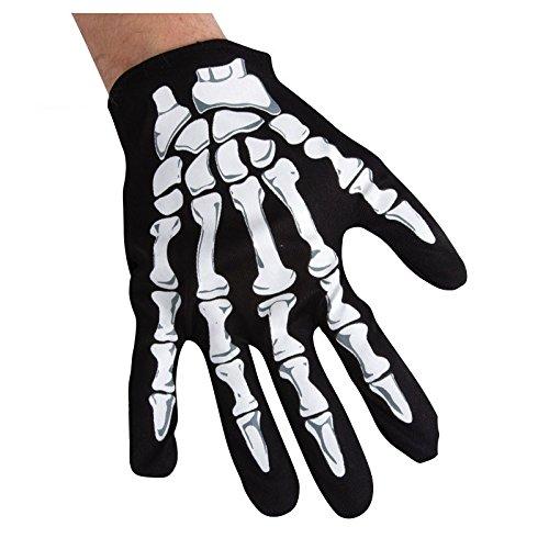 Gants noirs Squelette Phosphorescent enfant Halloween