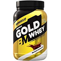 Bigmuscles Nutrition Premium Gold Whey 1Kg [Belgian Chocolate] | Whey Protein Isolate & Whey Protein Concentrate | 25g…