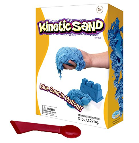 Blue Kinetic Sand 5lb, 2.2kg Coloured Sand Playset And Shaping Tool (Blue)