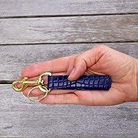 08a46e4bd10b3 Schlüsselanhänger Schlüsselband Schlange Python blau schwarz gold  Karabiner