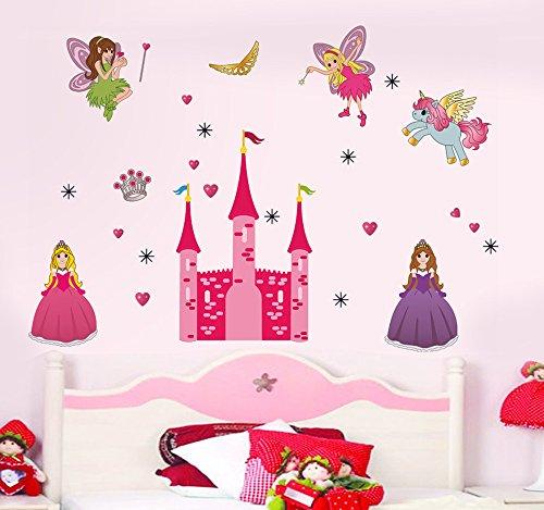Decals Design 'Disney Princess and Castle' Wall Sticker (PVC Vinyl, 90 cm...