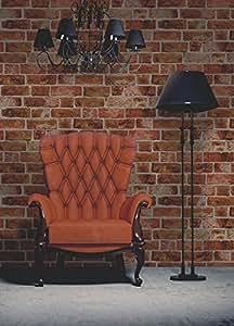 Brewster FD31045 Brick Wallpaper - Orange