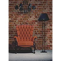 Brewster FD31045 Brick Wallpaper-Orange, Red