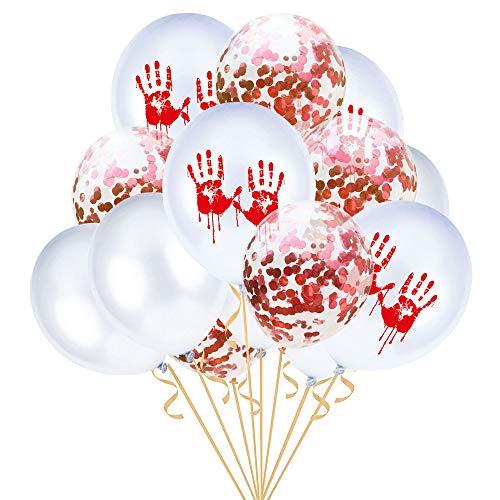 Quaan niedlich kreativ glücklich Halloween Party 15 Stück 12 '' Halloween Konfetti Ballons Skelett Drucken Requisiten Party Dekor Supplie Mauer Ornament Halloween Familie Festival Dekorationen