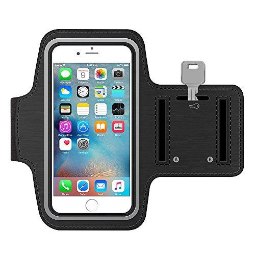 Negro al aire libre Correr Deporte Gimnasio brazalete Carcasa para iPhone 7Plus/Samsung Galaxy S8/S7Edge/J7J5/Motorola Moto G4/Oukitel K6000Pro/Huawei Nexus 6P/BLU Vivo 6