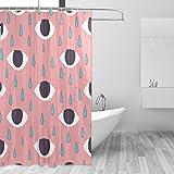 COOSUN Augen Drucken Duschvorhang, Polyester-Gewebe Duschvorhang, 66 x 72-inch 66x72 Mehrfarbig