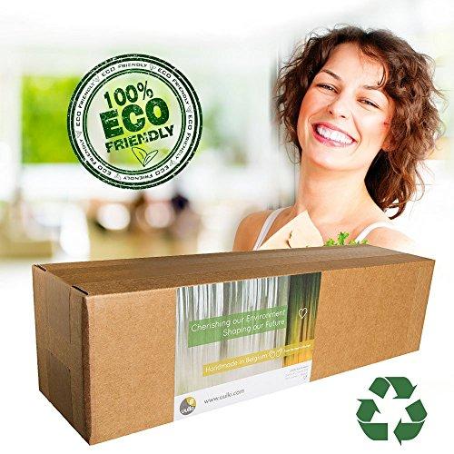 Uulki 17 TLG. Umweltfreundliches Kochutensilien Set aus Buchenholz - Holz Küchenutensilien Kochlöffel, Teigschaber, Pfannenwender, Salatbesteck, Grillzangen - 7