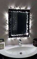 Idea Regalo - CORNICE DESIGN per Specchio Foto FERRO BATTUTO Personalizzata . con o senza Led . 850