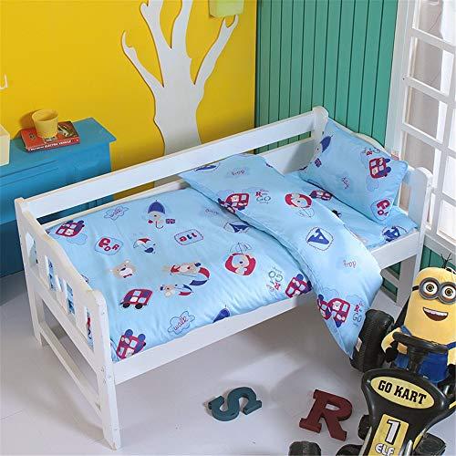 SanQing Kindergarten Bettwäsche-Single Flower dreiteiliges Set Plus Core Pillow Core Kit Kinderbettwäsche aus Baumwolle,08,CStyle