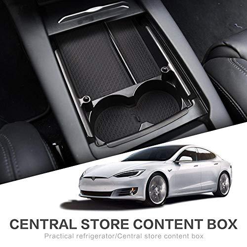 FOONEE Tesla Model S/X-Aufbewahrungsbox mit zentraler Steuerung, kreatives Design Steuert die Aufbewahrungsbox Tasse in der Mitte des Konsolencontainers auf clevere Weise Et Model