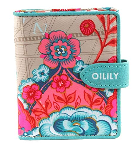 Oilily Fantasy Flora S Flap Wallet Biscuit