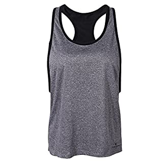 Tutoy Women Sport Two Pieces Sleeveless Vest Wirelss Shockproof Bra Quick Dry High Elastic Fitness Vest - SΠnk